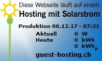 Webhosting mit Solarstrom